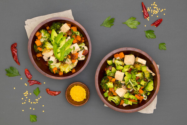 Roasted Sweet Potato Tofu Bowls